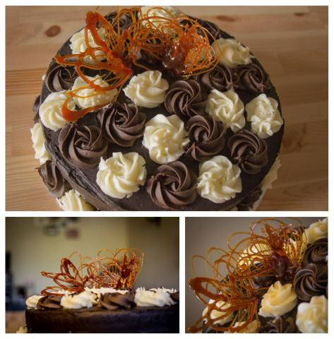 Tri-chocolatecake